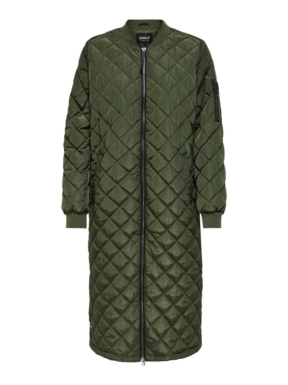 Lang quiltet jakke fra Carmakoma!