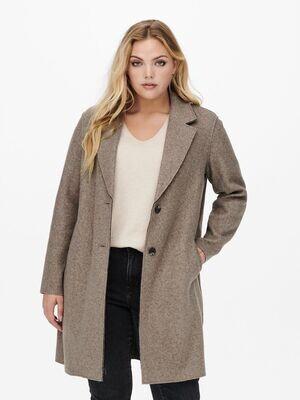 Klassisk frakke med rå tvist fra Carmakoma.