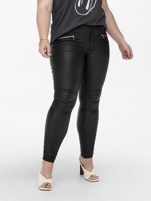 Coated bukser med lynlås-detaljer fra Carmakoma
