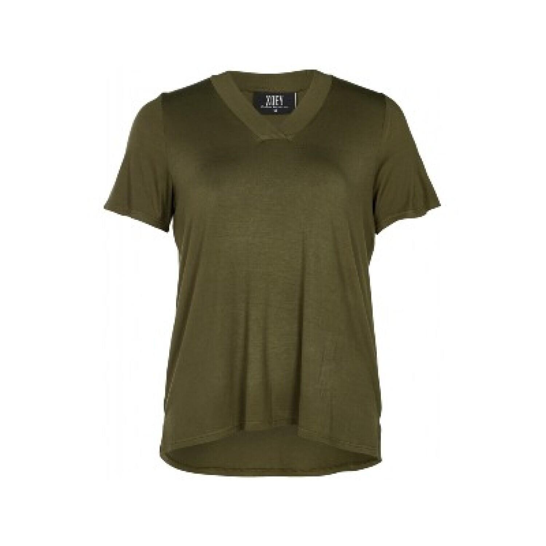 Army viskose T-shirt fra Zoey