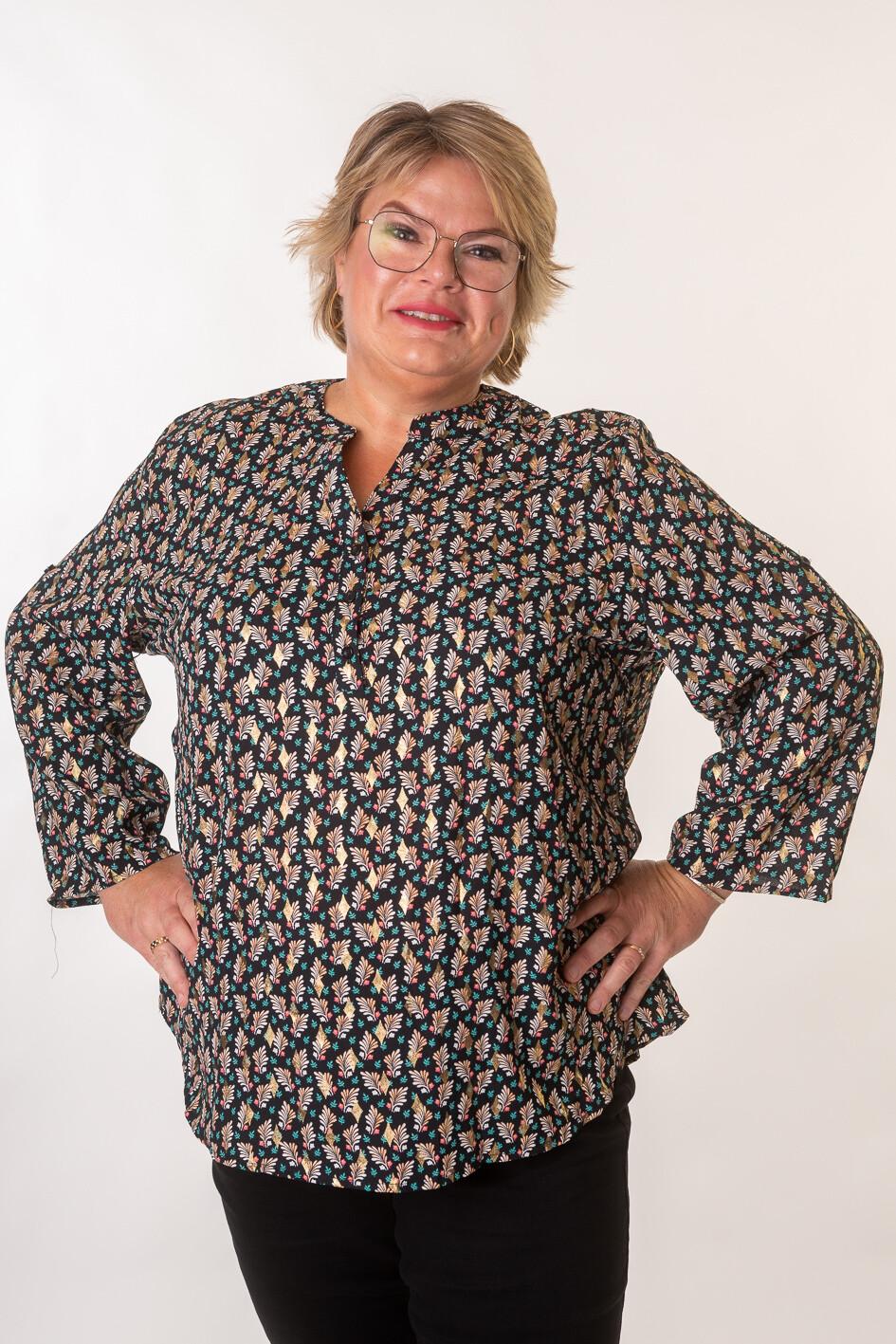 Elegant skjorte med print fra Christy/Paris