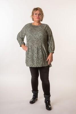 Mønstret tunika fra Christy/Paris