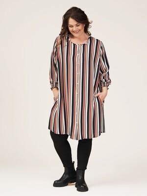 Sød stribet tunika bluse fra Gozzip