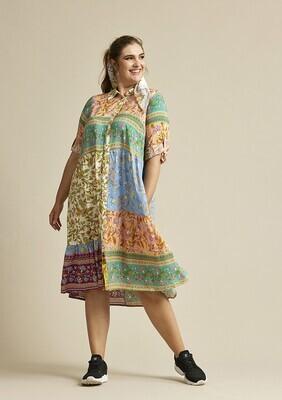 Viscose-kjole i smukke farver fra Zhenzi!