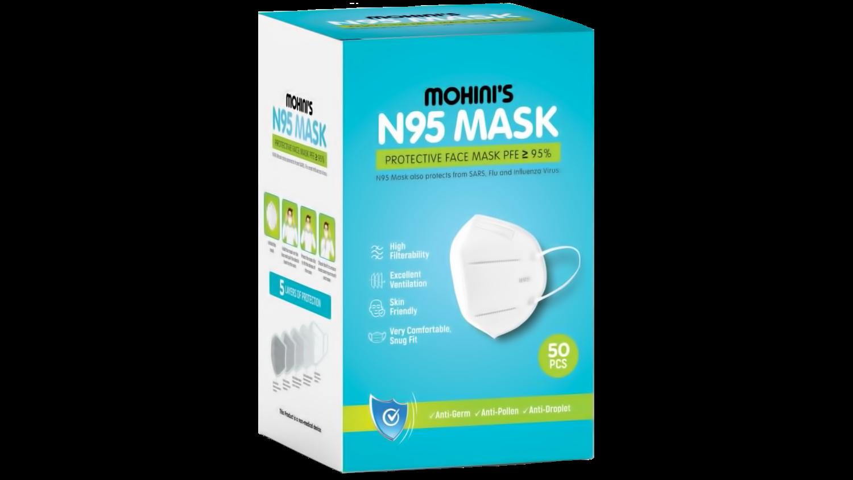 N95 Masks (Carton - 50 Masks)
