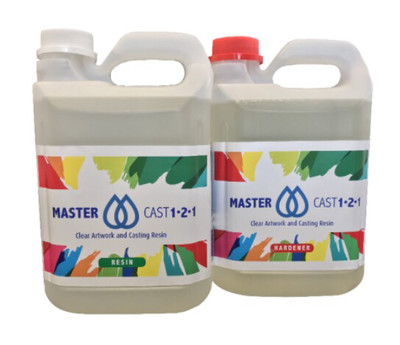 Master Cast 1-2-1 Clear Art Resin 4kg(1.04 Gal)