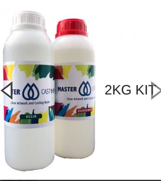 Master Cast 1-2-1 clear Coat Art Resin 2kg (1/2 gal)