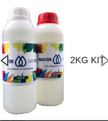 Master Cast 1-2-1 clear Coat Art Resin 2kg (1/2 gal)