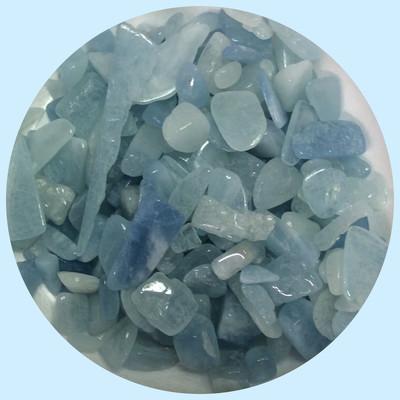 Aquamarine Tumbled Gemstone Chips 100gr+(NEW)