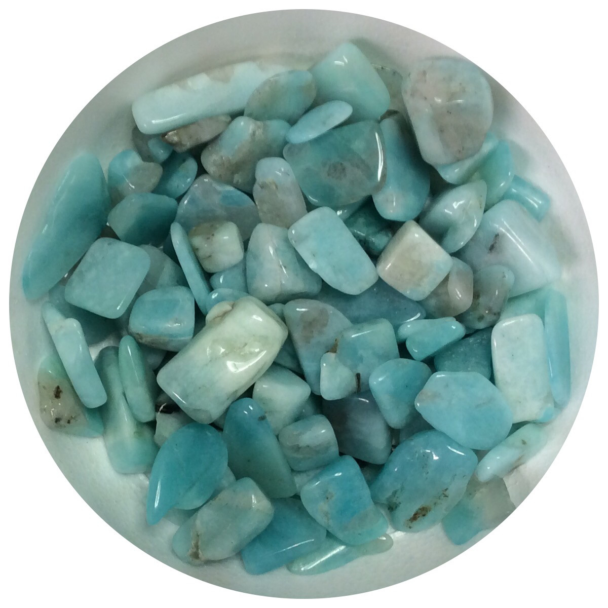Amazonite Tumbled Chips Stone 200gr (NEW)