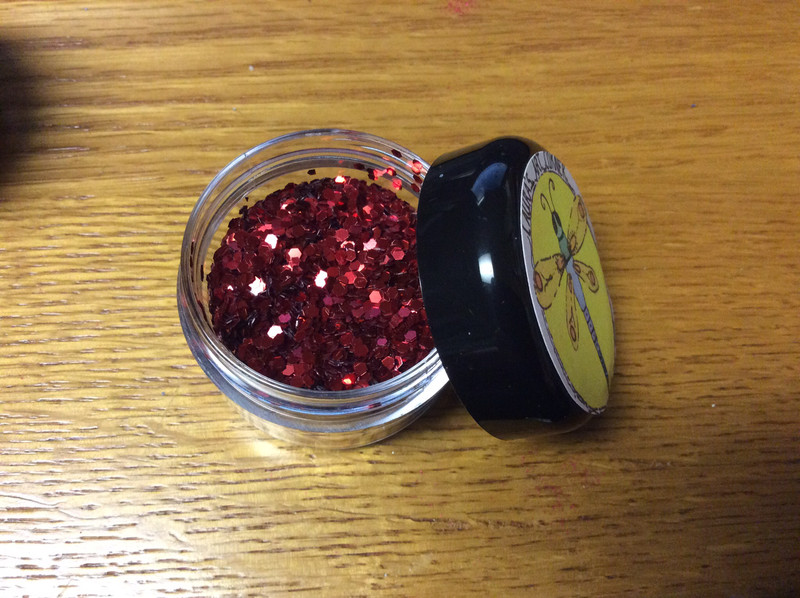 Juicy Red Lips Polyester Glitter 25gr(Super Chunky)