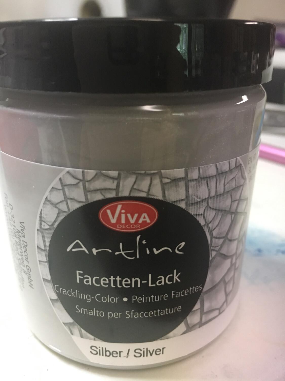 Viva Silver Crackle Paste