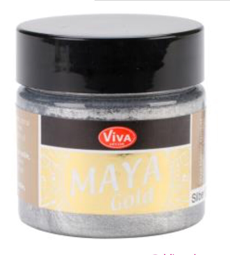 Viva Silver Metallic Paint 45ml
