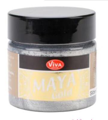 Viva Silver Metallic Paint 45ml
