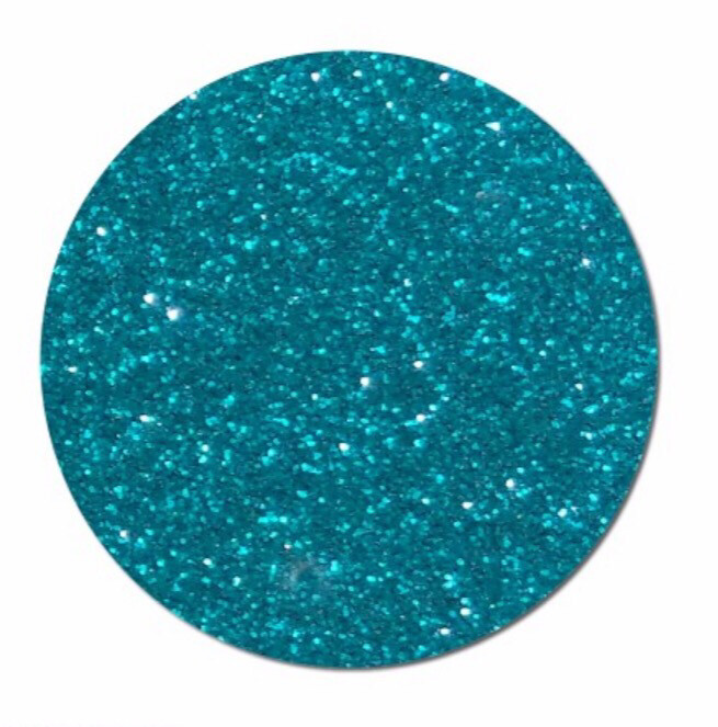 Teal Sparkle Glitter Polyester (NEW)