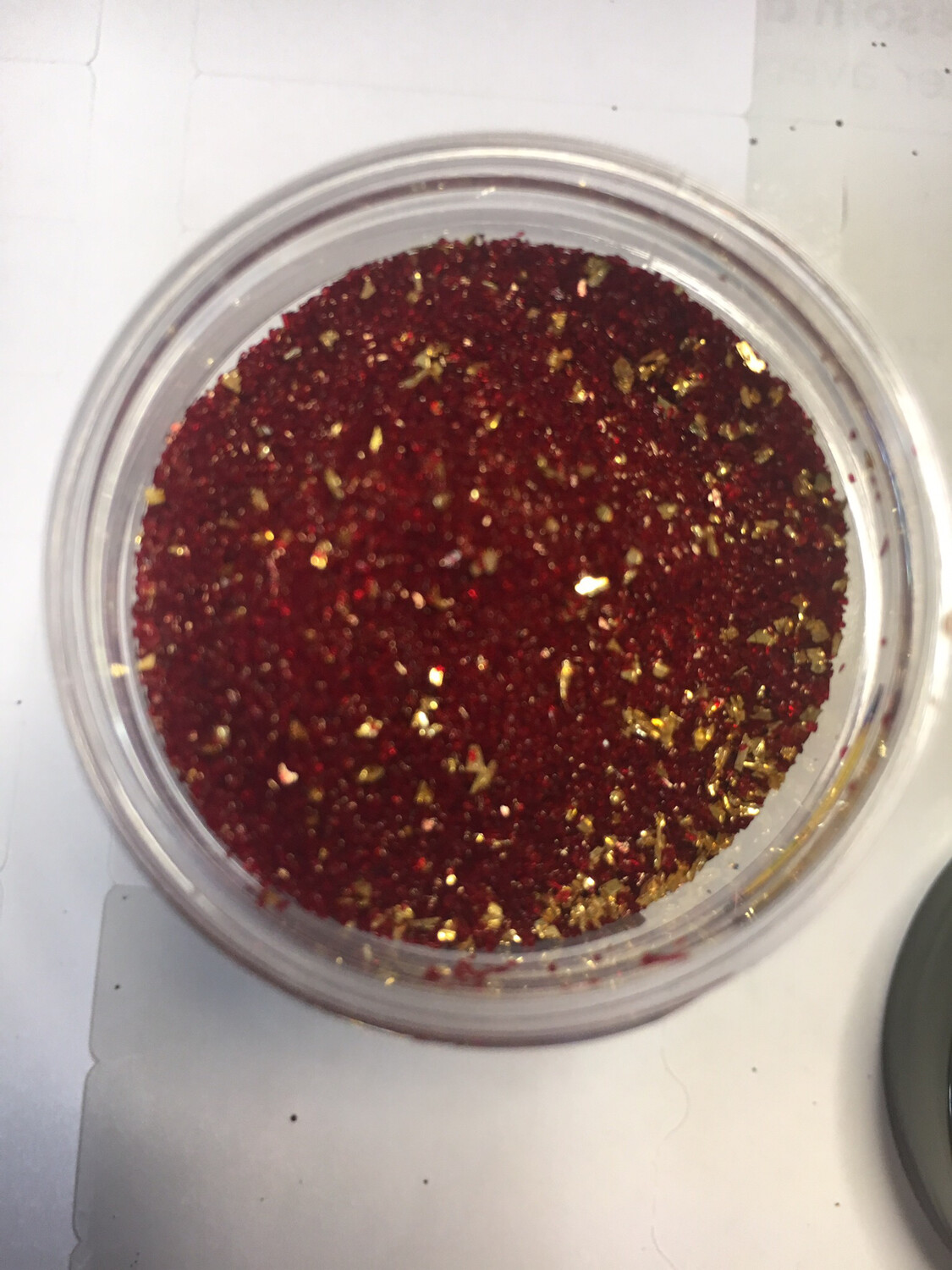 Crimson Gold Glass Glitter (Red and Gold)