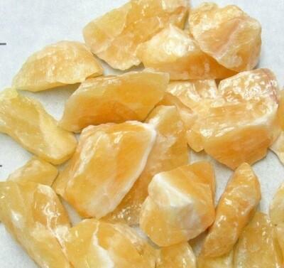 Orange Calcite Chunks 7 Pieces