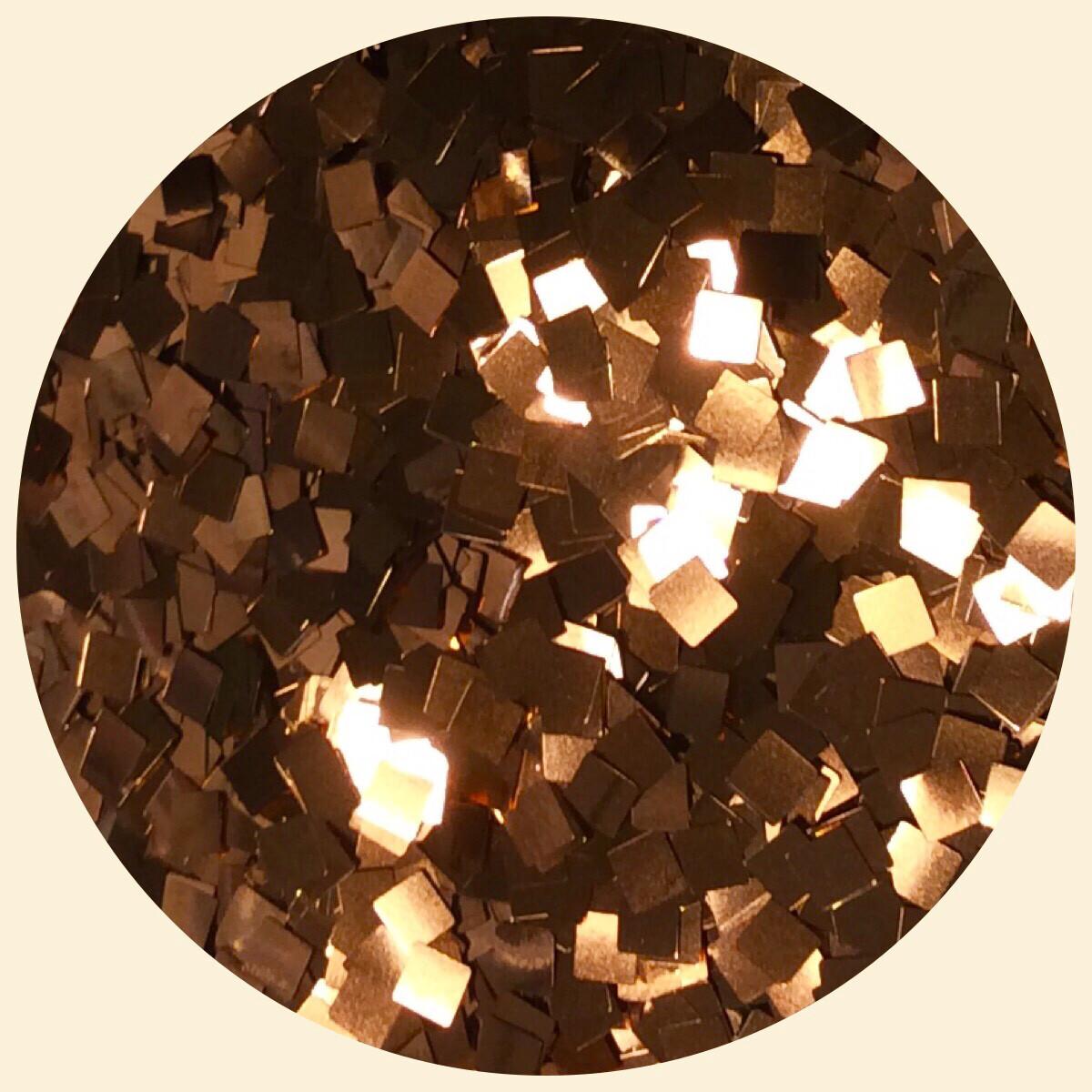 Copper Rose Square Glitter