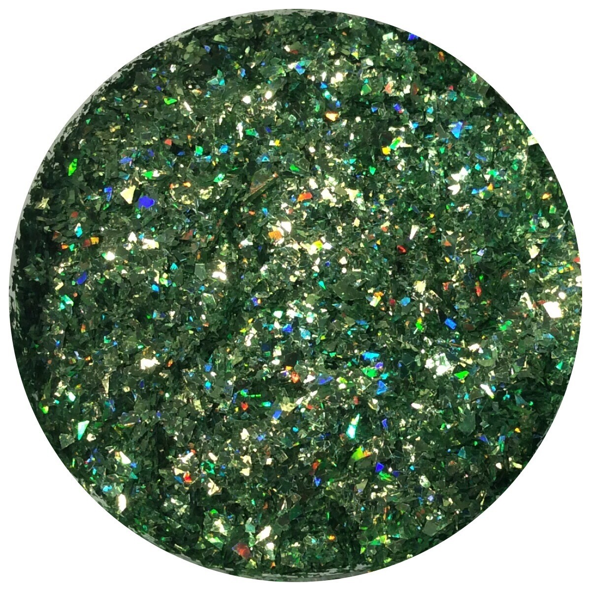 Green Druzy Glitter- Special Cut Blend