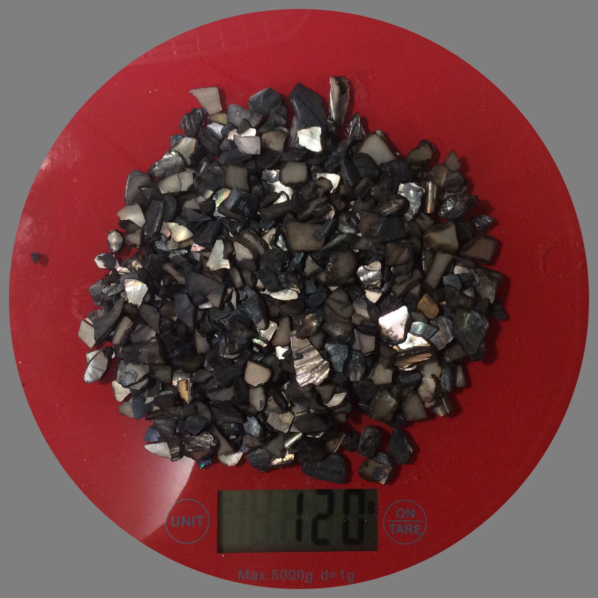 Broken Black Seashells 120gr NEW COLOR