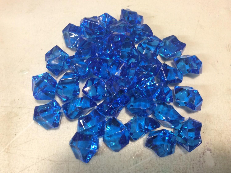 Large Blue Acrylic Chunks