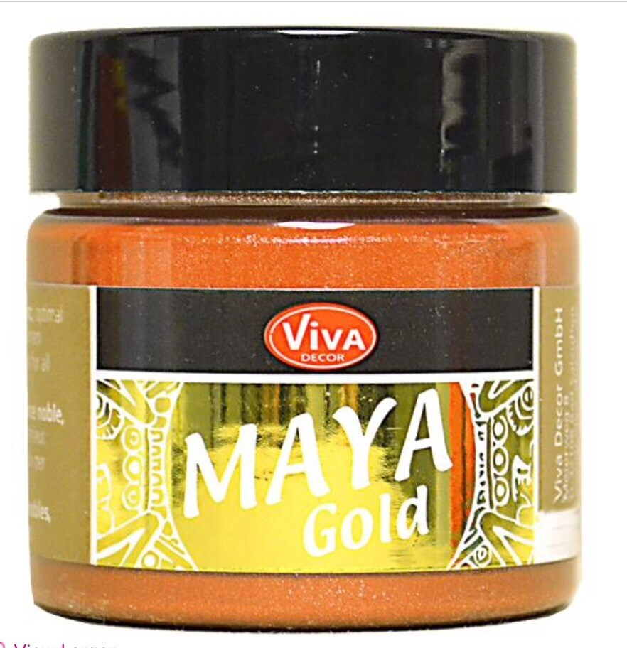 Viva Metallic Paint (Orange Gold) 45ml 00330