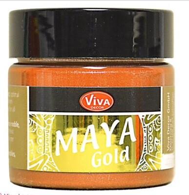 Viva Metallic Paint (Orange Gold) 45ml 00330