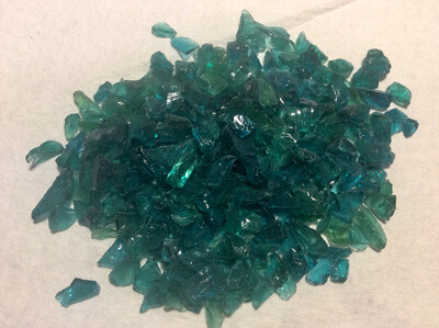 Teal Blue Crushed Glass (NEW)1/2lb