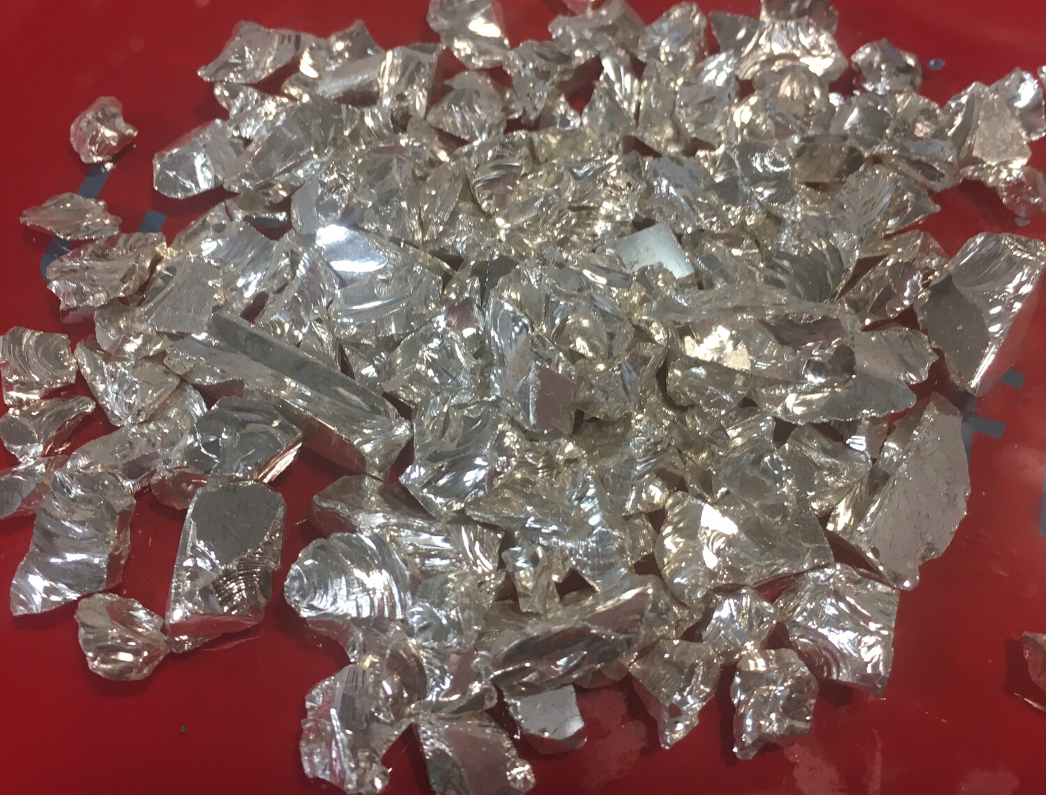 Silver Chrome Glass, crushed (NEW) 1/2 lb