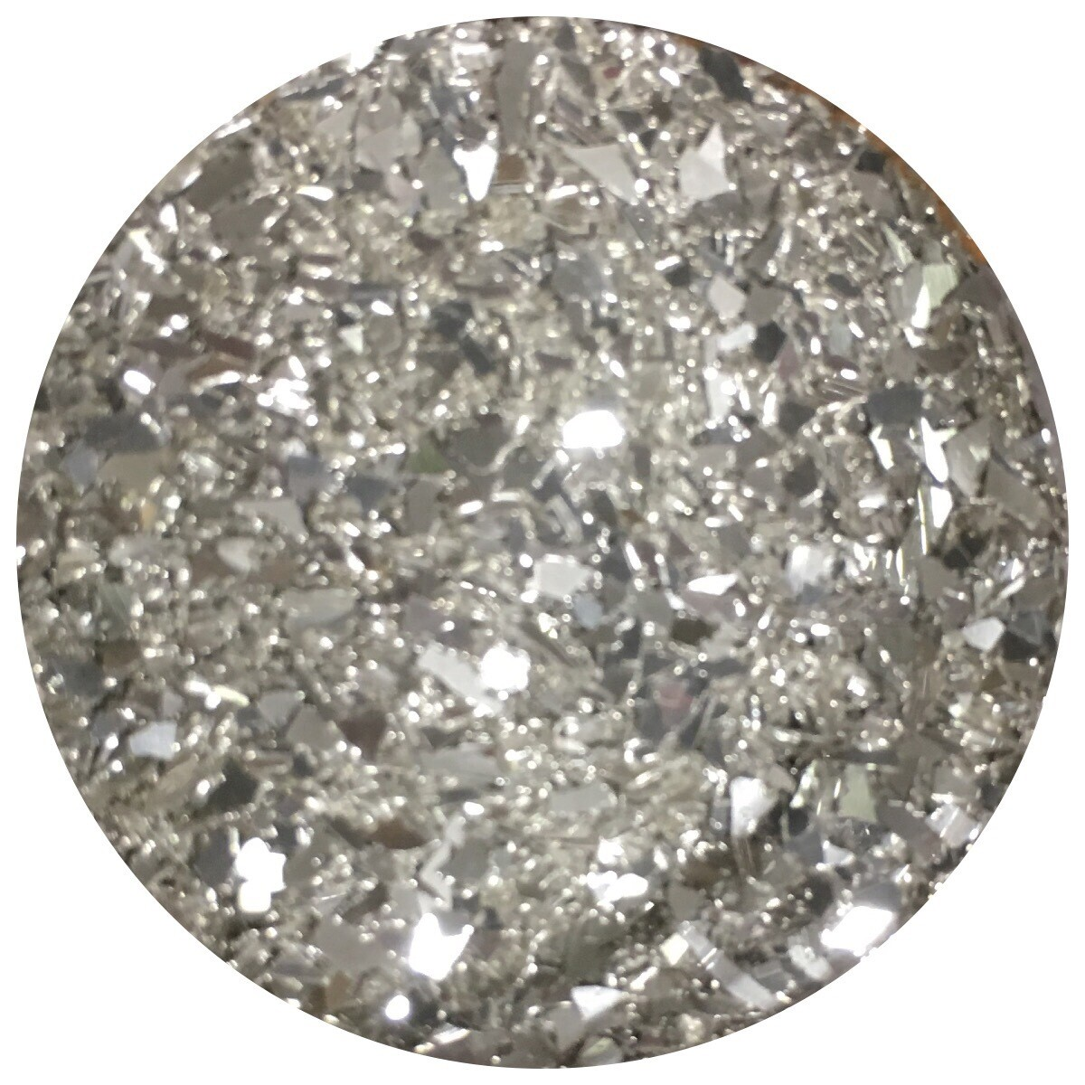 Silver Fusion Glass Glitter 1oz