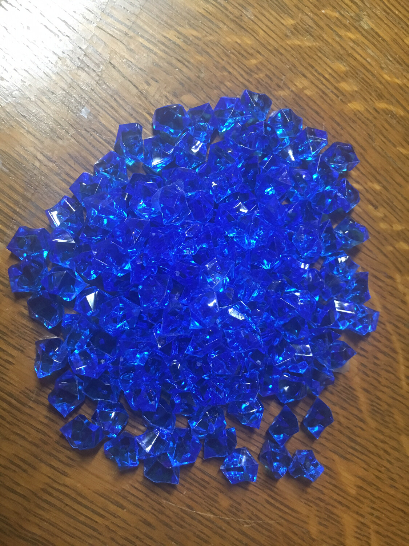Mini Blue Acrylic Chunks