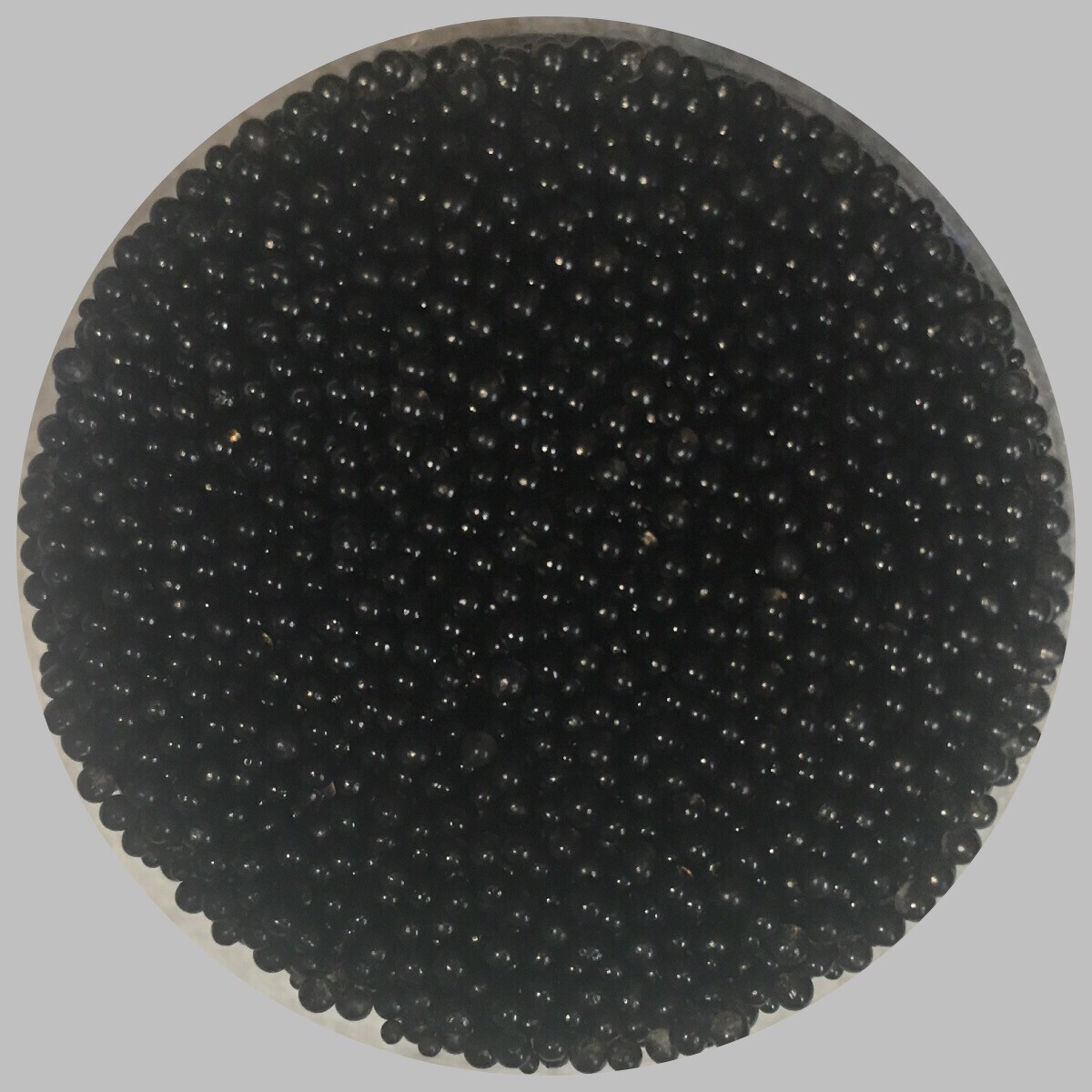 Black Mini Glass Beads 45gr