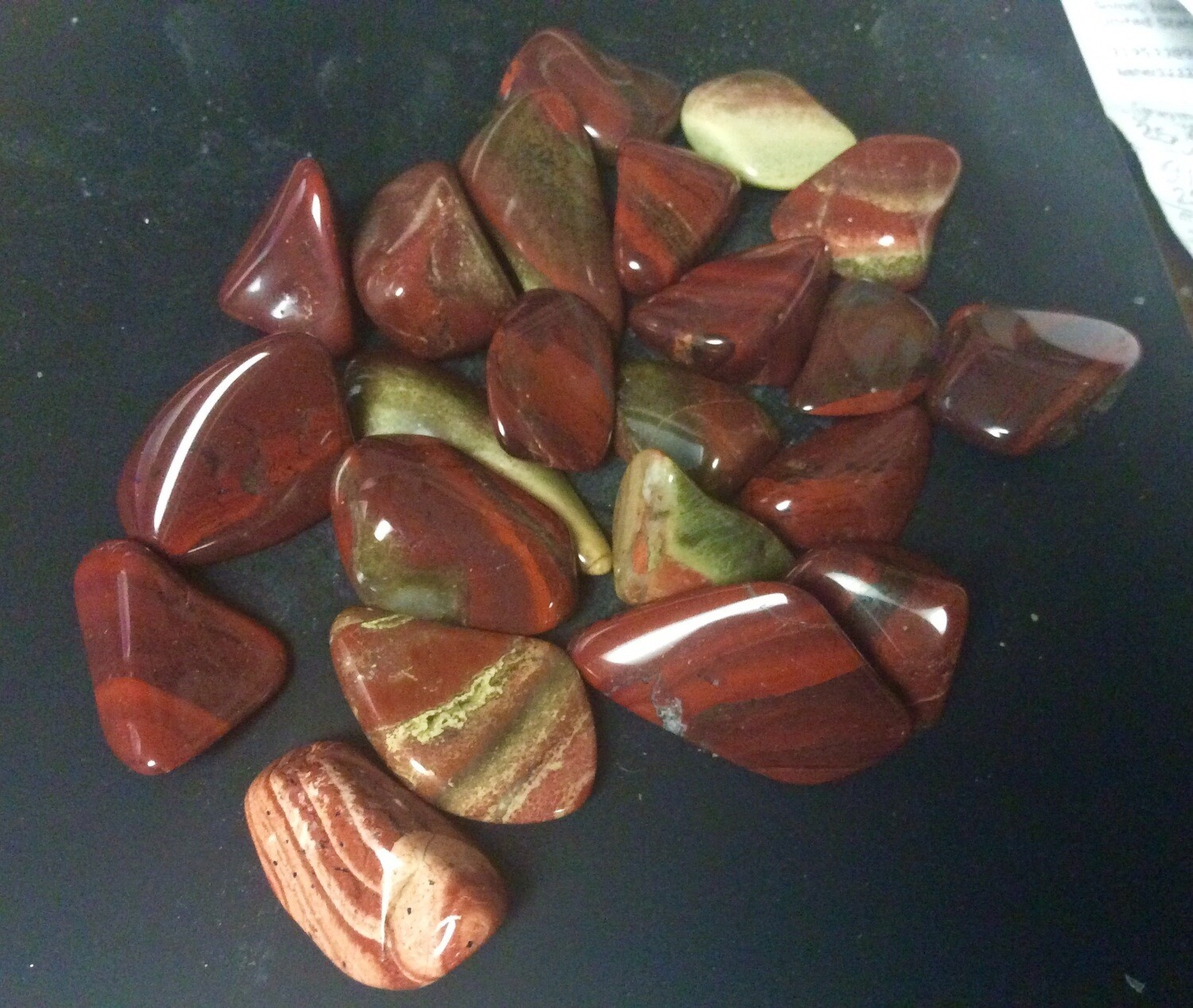 "Red Flame Jasper 100gr 1/2-1"" Pieces"