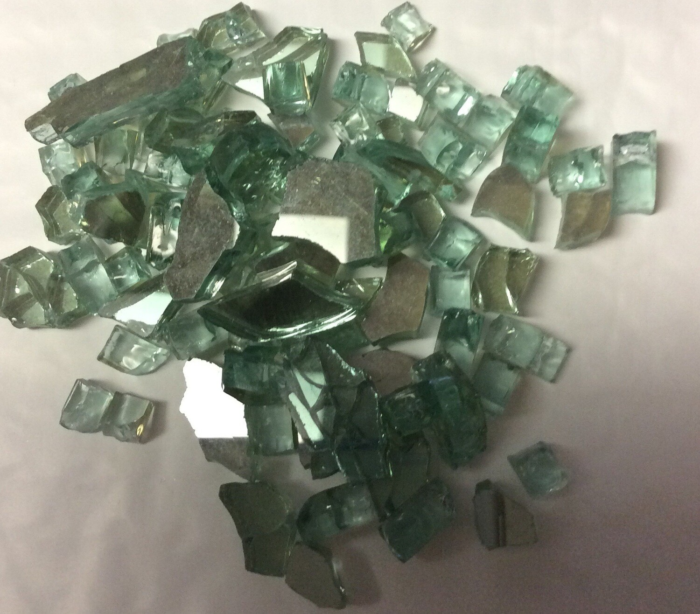 Light Emerald Reflective Fire Glass 1/2 Lb