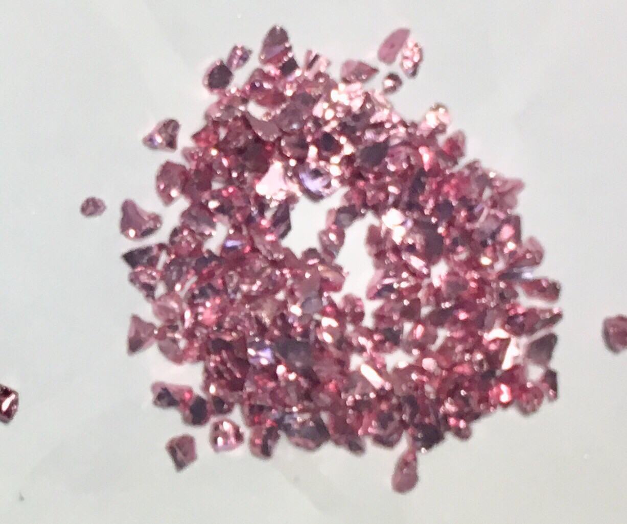 Rose Gold crushed glass Bits 50gr (New)