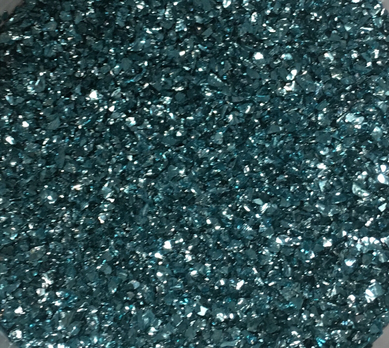 Blue Crushed Glass Bits 50gr