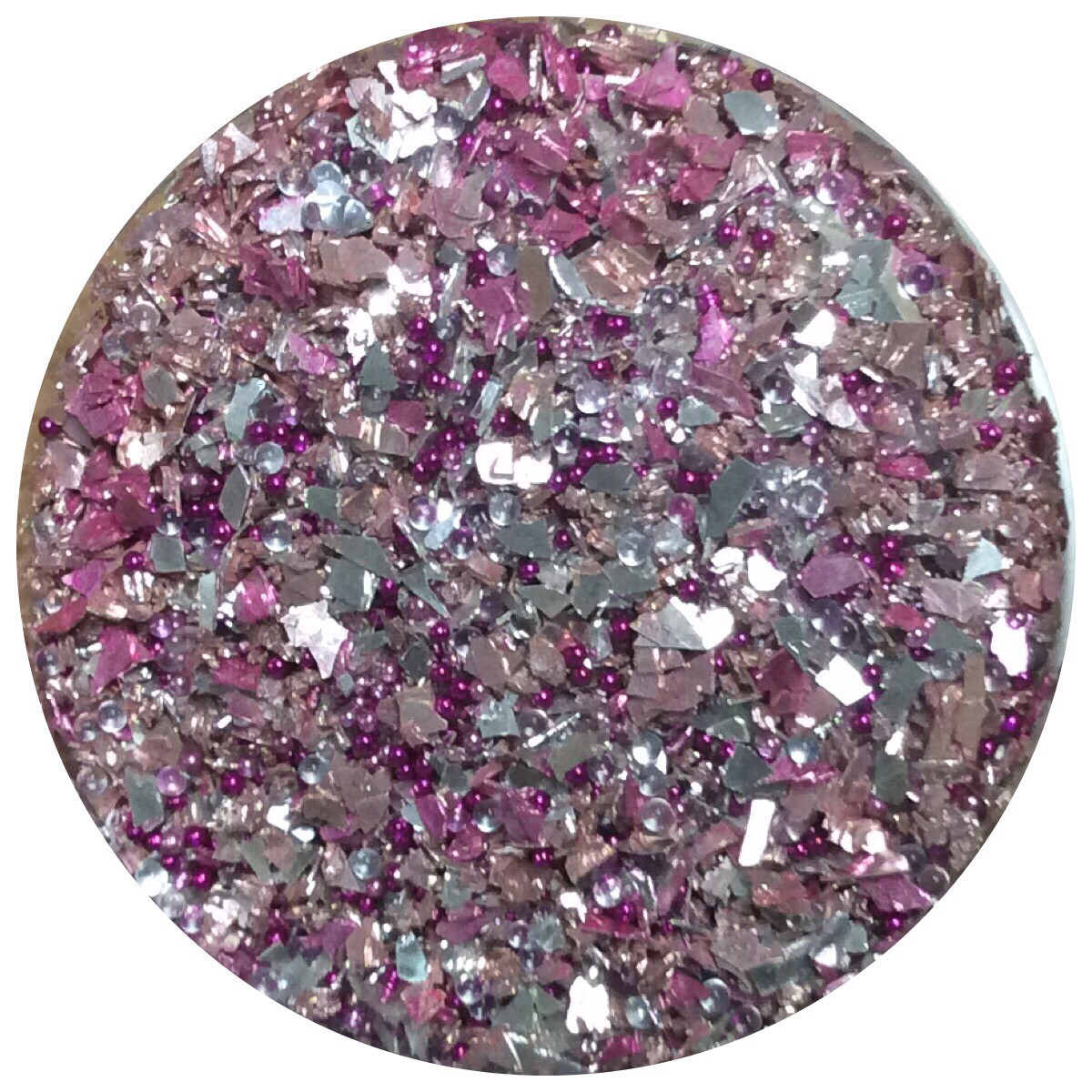 Pink Silver Glass Glitter 30gr (NEW)