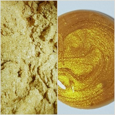 BRIGHT GOLD Pearlescent Pigment Powder 25g NEW-Semi-Transparent