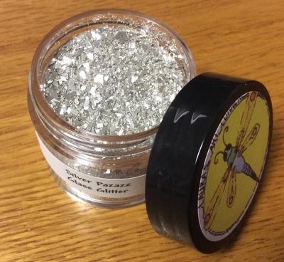Silver Pazazz Glass Glitter 25gr