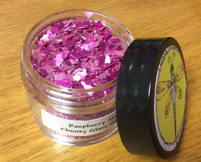 Raspberry Jewel Chunky Glass Glitter 30gr
