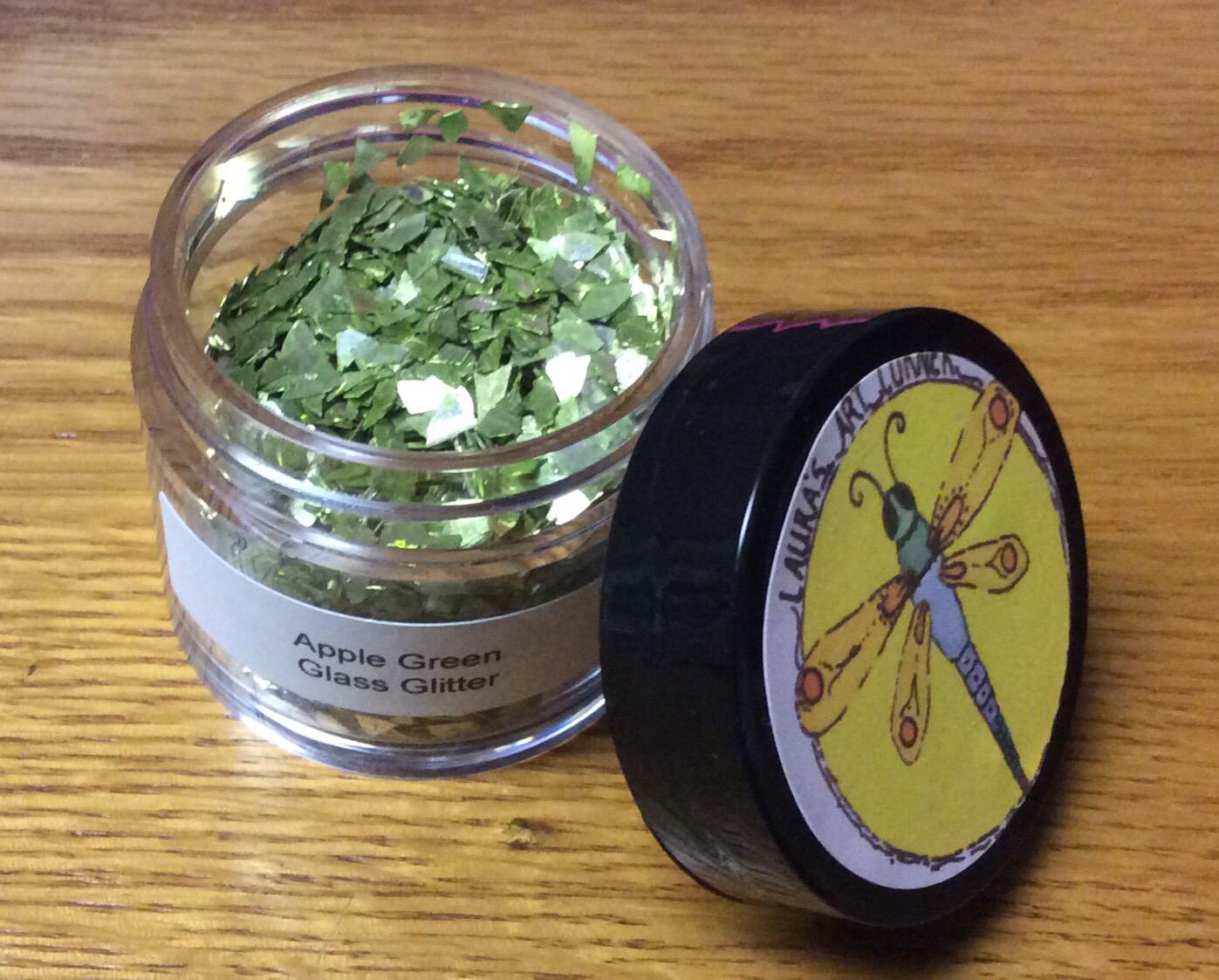 Apple Green Glass Glitter 30gr