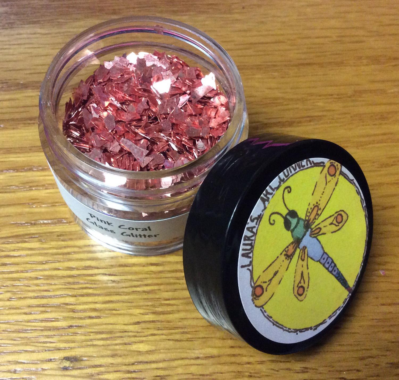 Pink Coral Glass Glitter