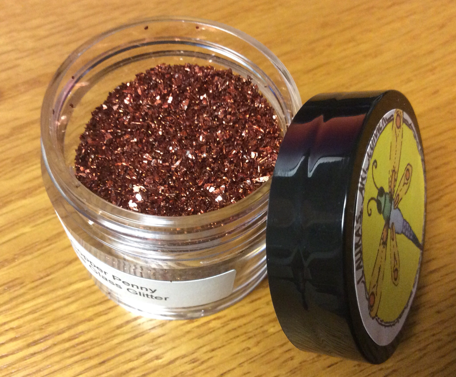 Copper Penny Fine Glass Glitter II 25gr
