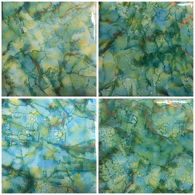 Set of 4 Alcohol ink Coasters/resin