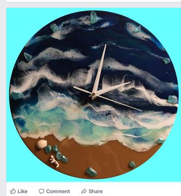 Resin Beach Clock (SOLD)
