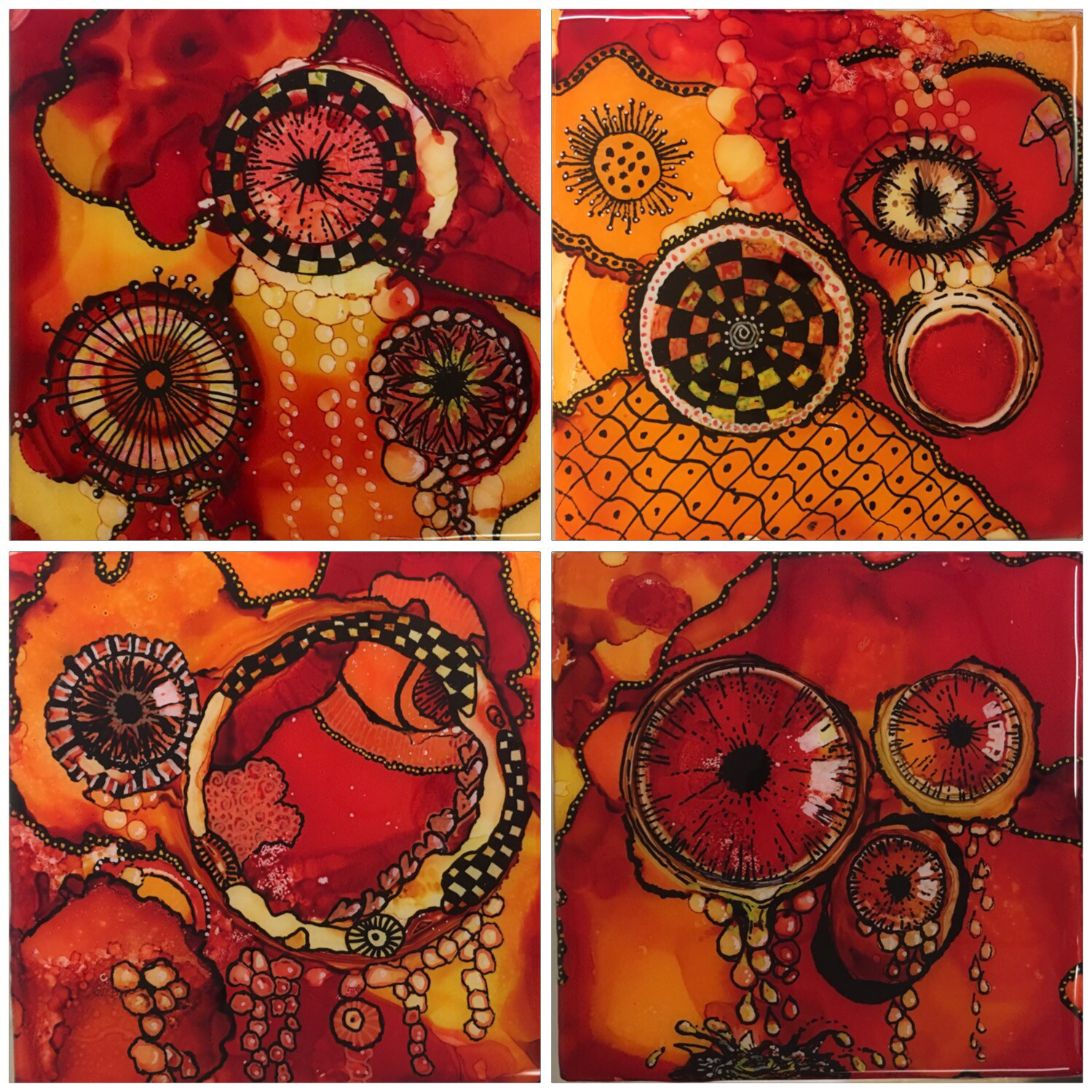 """Resin Art Coasters """"SOLD"""""""