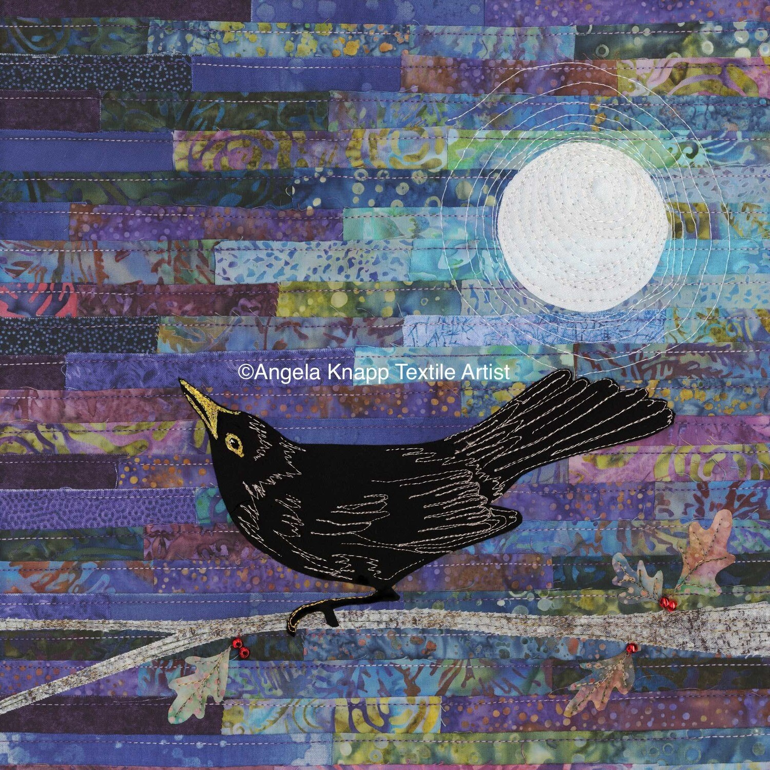 'Blackbird Singing in the dead of night' - Limited Edition Giclee Print