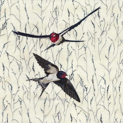 'Rush Hour' Swallows - Limited Edition Giclee Print