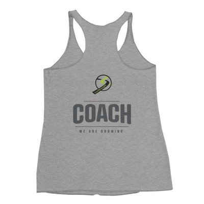 Women's COACH Racerback Tank grey