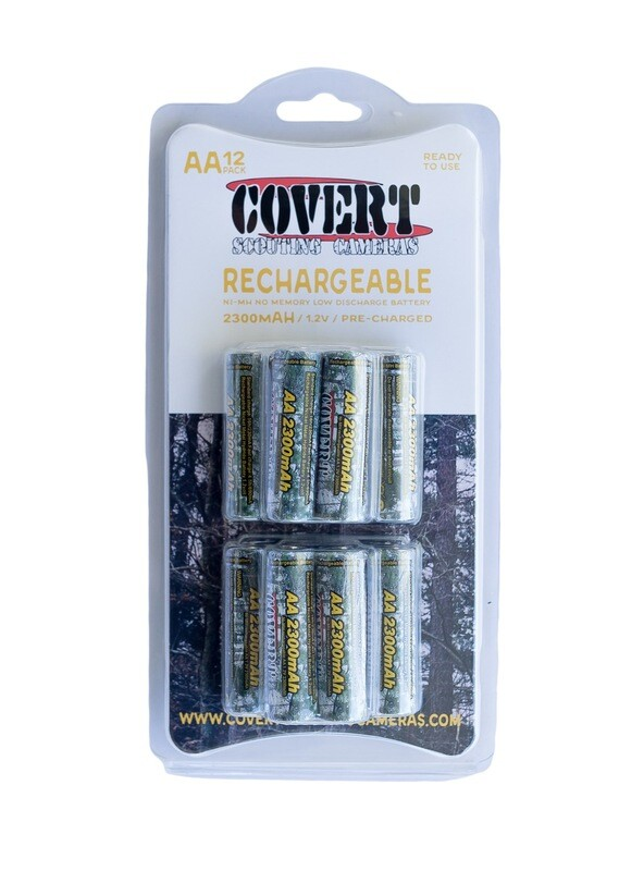 Covert Rechargeable AA Batteries 12 Pack